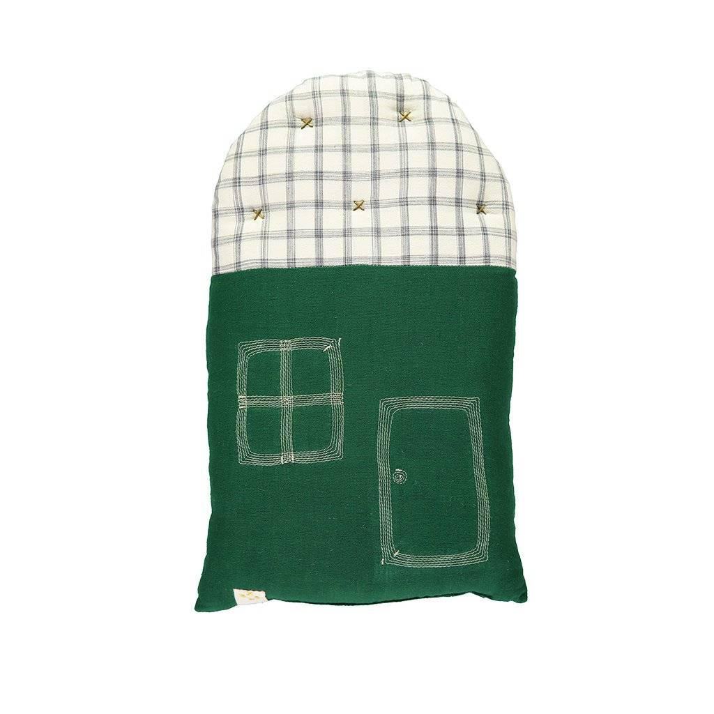 CL | Kids Cushion | small house forest check
