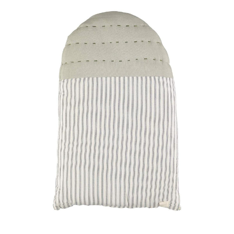 CL | Kids Cushion | midi house ticking stripe and charcoal - back