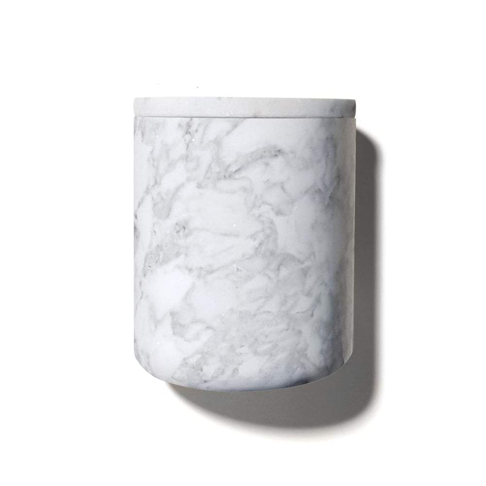 candle - Luxuriate | candle holder | white marble - mondocherry