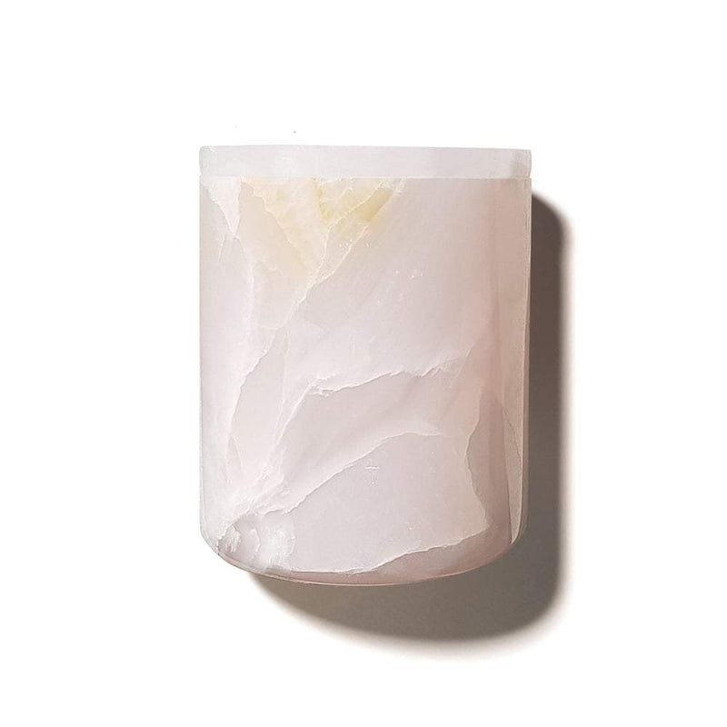 Mrs Darcy | crystal collection candle | rose quartz, peonies and fresh roses
