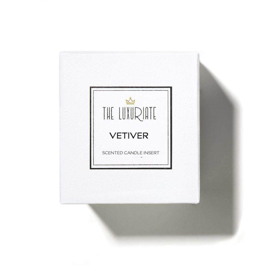 candle - Luxuriate | glass candle insert | vetiver - mondocherry
