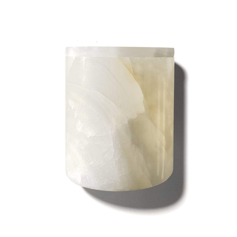 candle - Luxuriate | candle holder | white onyx - mondocherry