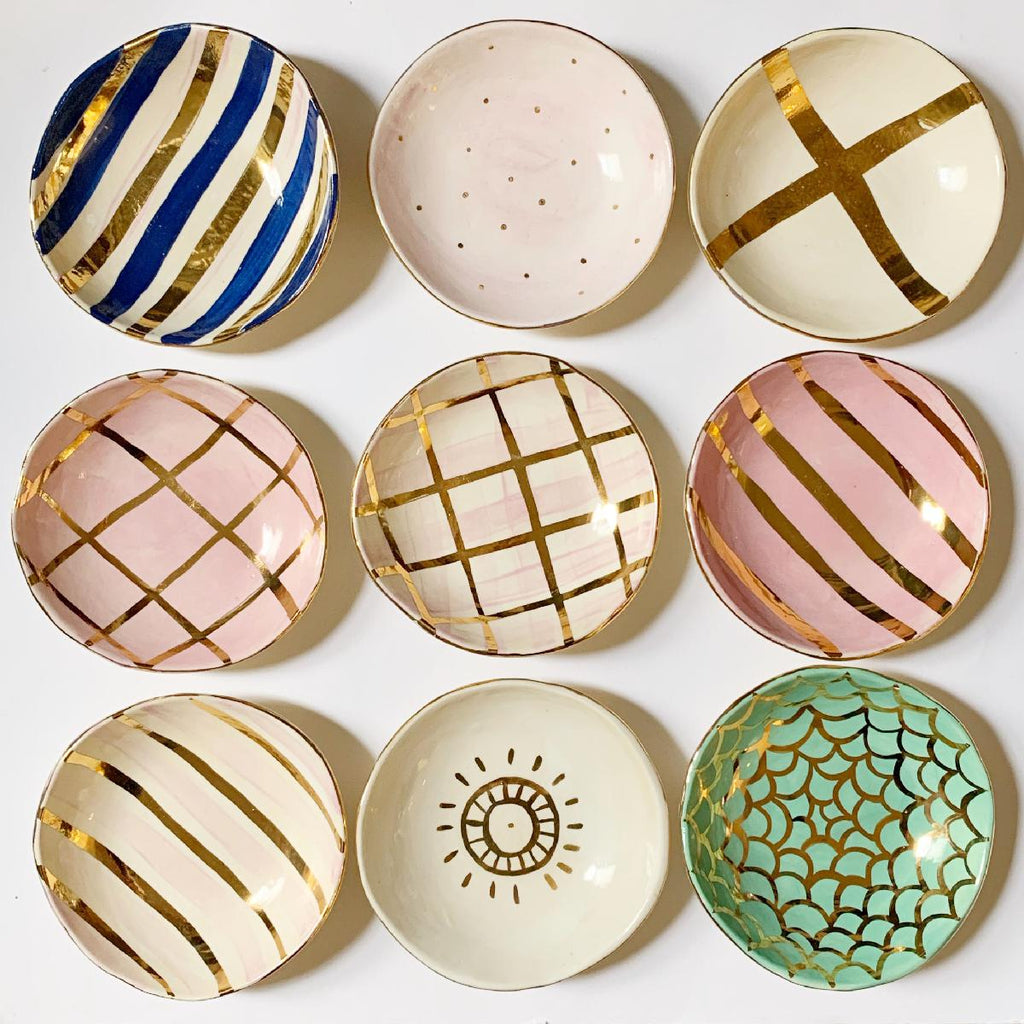 Carla Dinnage small ceramic bowl collection