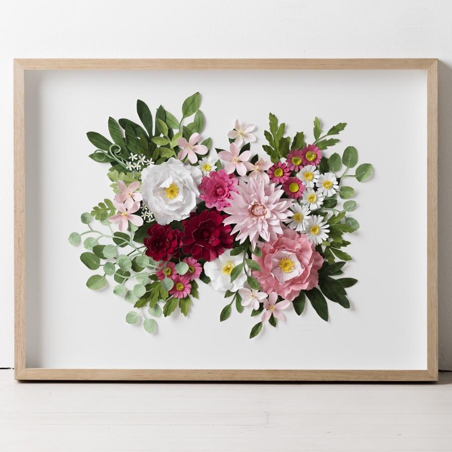 mondocherry botanical paper flower artwork