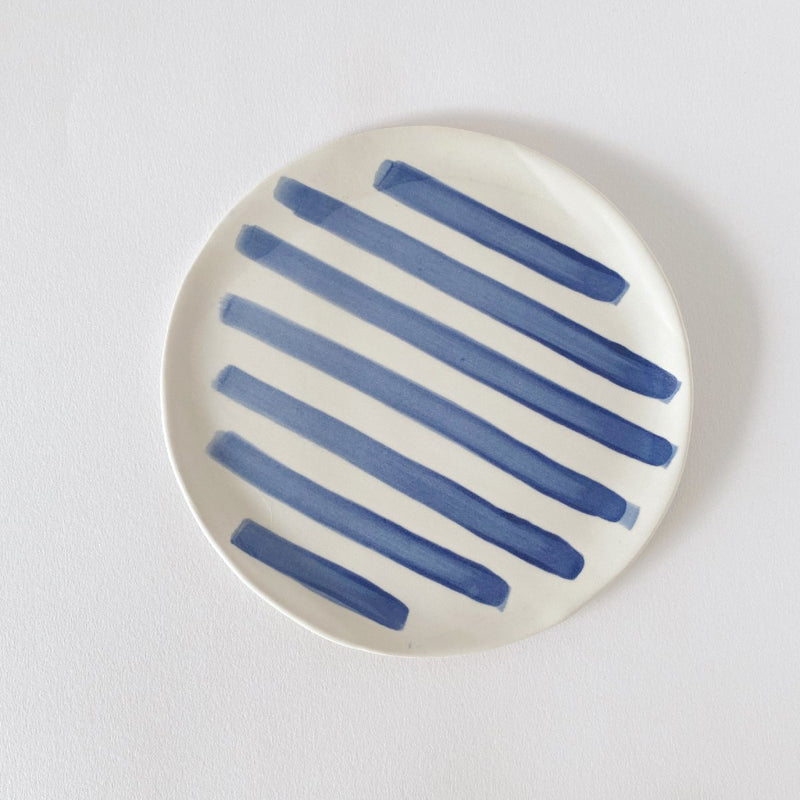Clay Beehive | ceramic plate | stripes 2 | 18cm