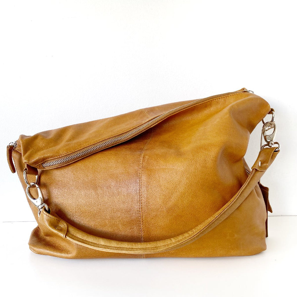 Dusky Robin | adele leather bag | tan