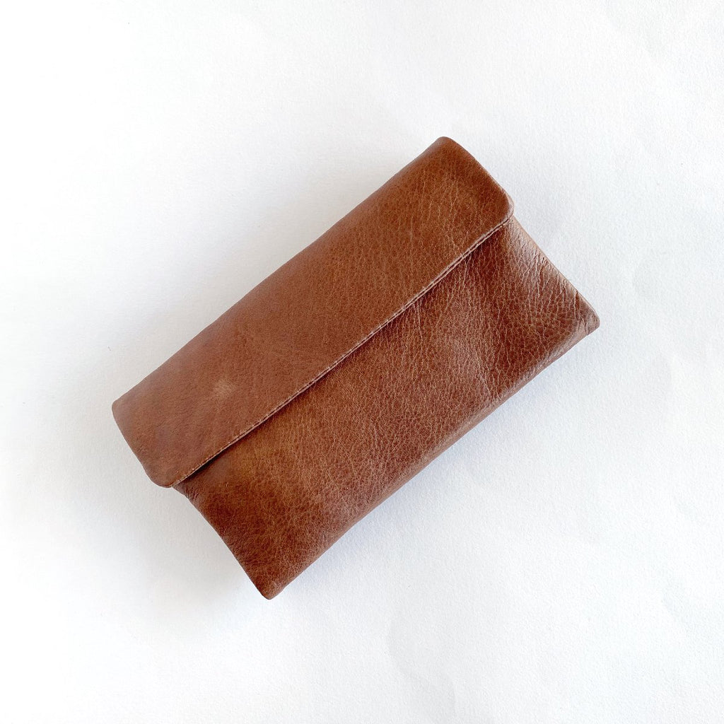 Dusky Robin | chloe leather purse | brown