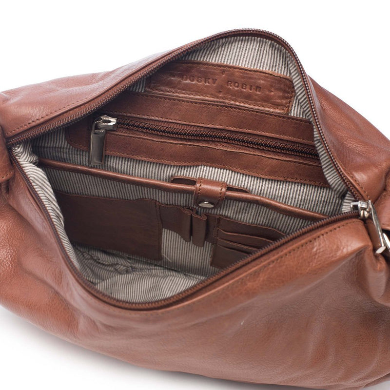 Dusky Robin | meg leather bag - inside