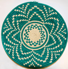 Couani Maui woven bowl large green -  - mondocherry - home : style : design