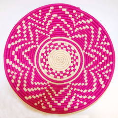 Couani Maui woven bowl large pink -  - mondocherry - home : style : design