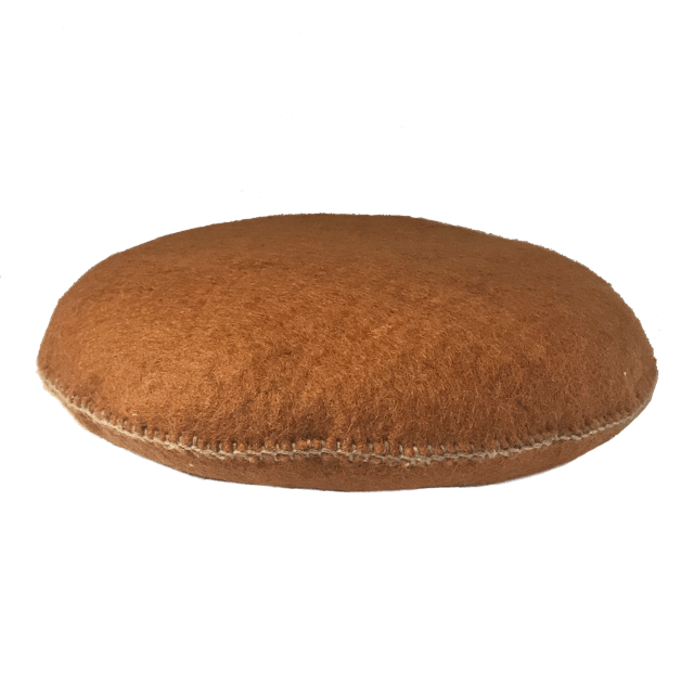 Muskhane - smartie cushion large - caramel-mondocherry homewares