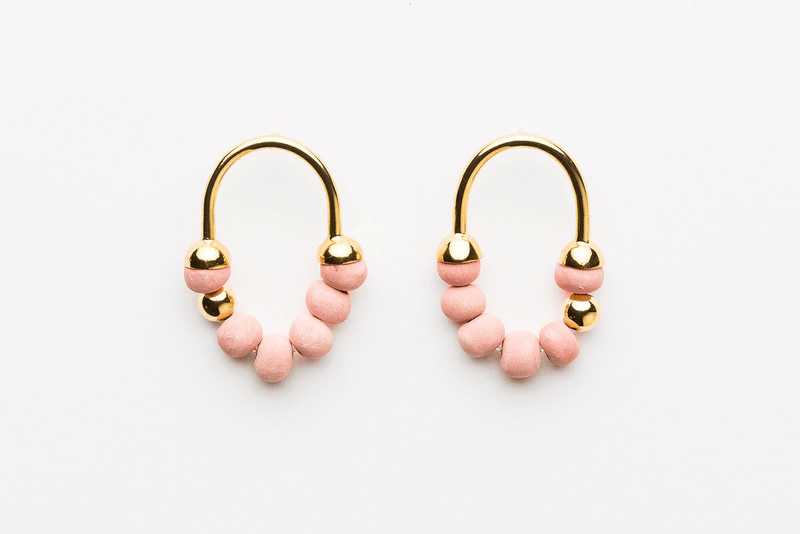 Jewellery - Klaylife | zola earrings | pink,gold - mondocherry