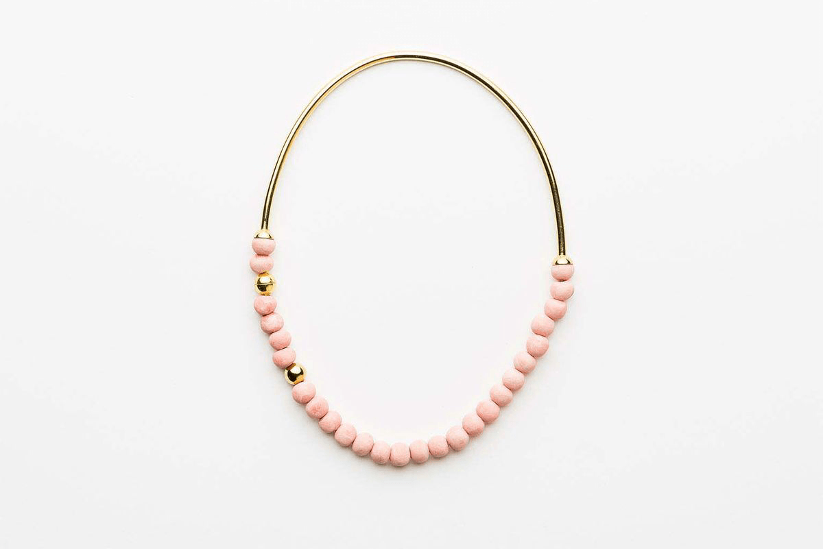 Zoya necklace pink/gold