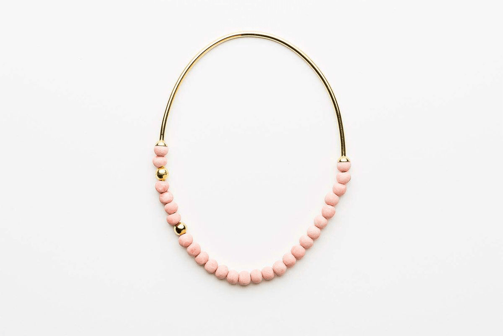 Jewellery - Klaylife | zoya necklace | pink,gold - mondocherry