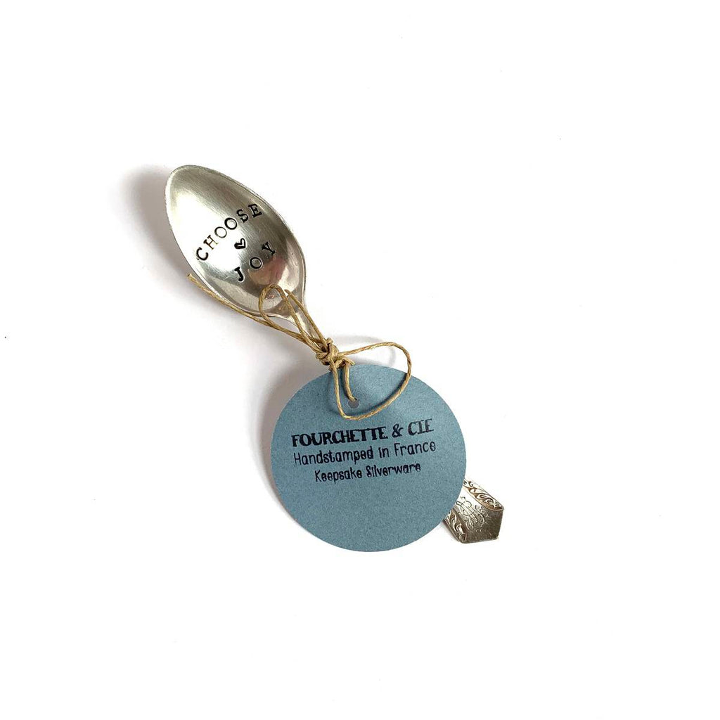 "antique silverware teaspoon | ""choose joy"""