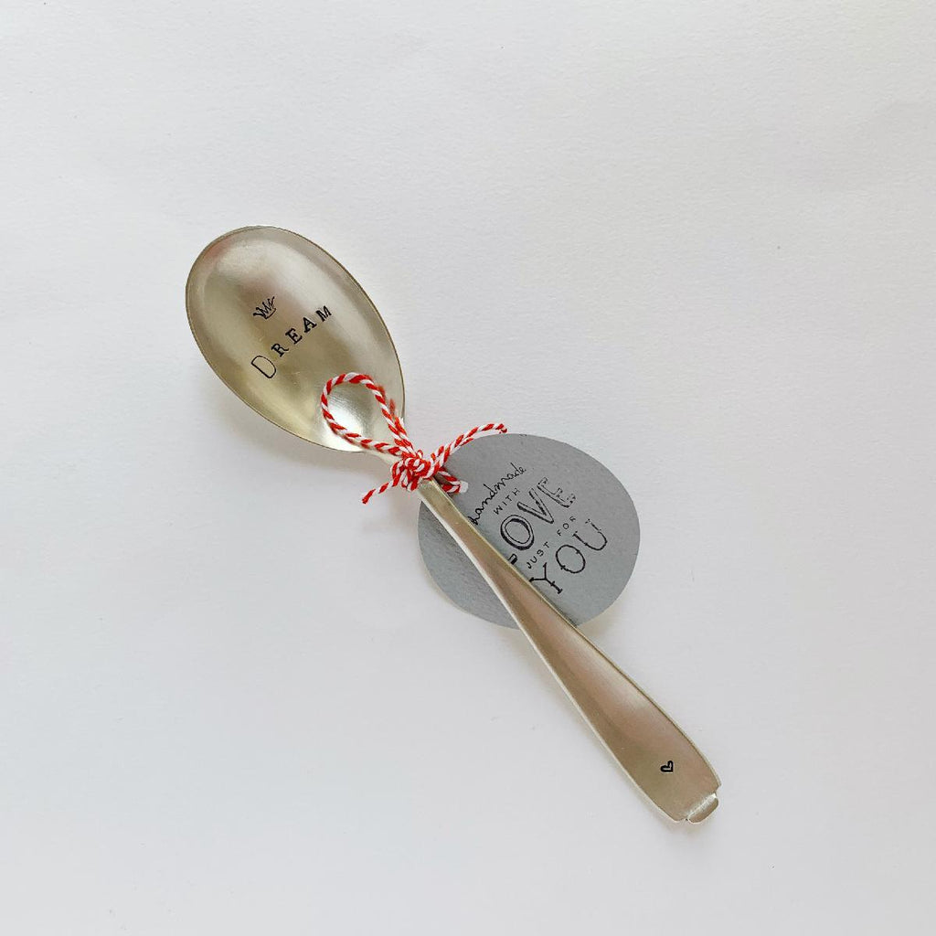 "antique silverware large spoon | ""dream"" - fc178"