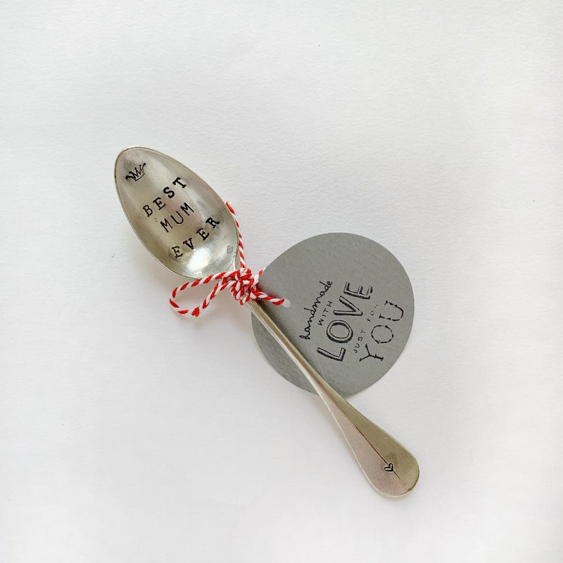 "antique silverware teaspoon | ""best mum ever"" - fc161"