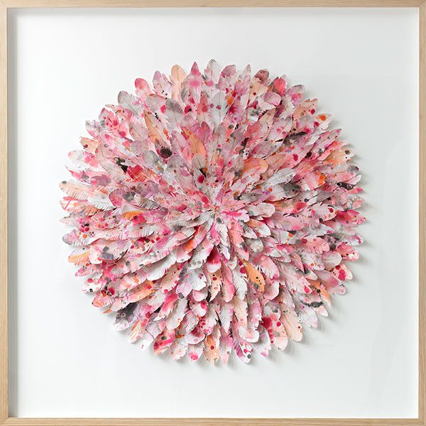 "mondocherry - juju hat paper feather artwork - ""galah"""