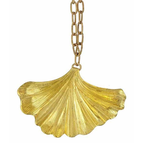 Ginkgo single necklace-Jewellery-We Dream In Colour-mondocherry