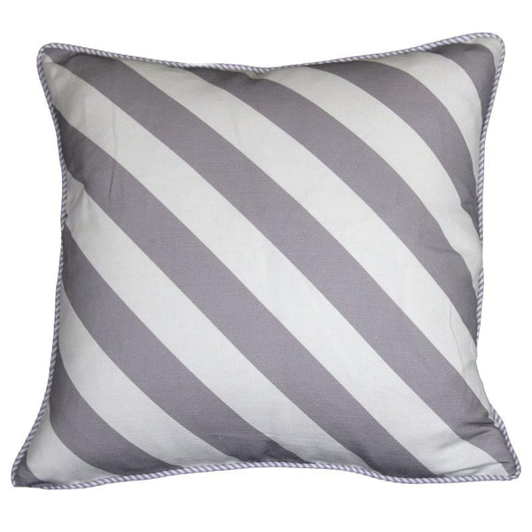 """serious stripes"" cushion in grey - cushion - mondocherry - home : style : design"
