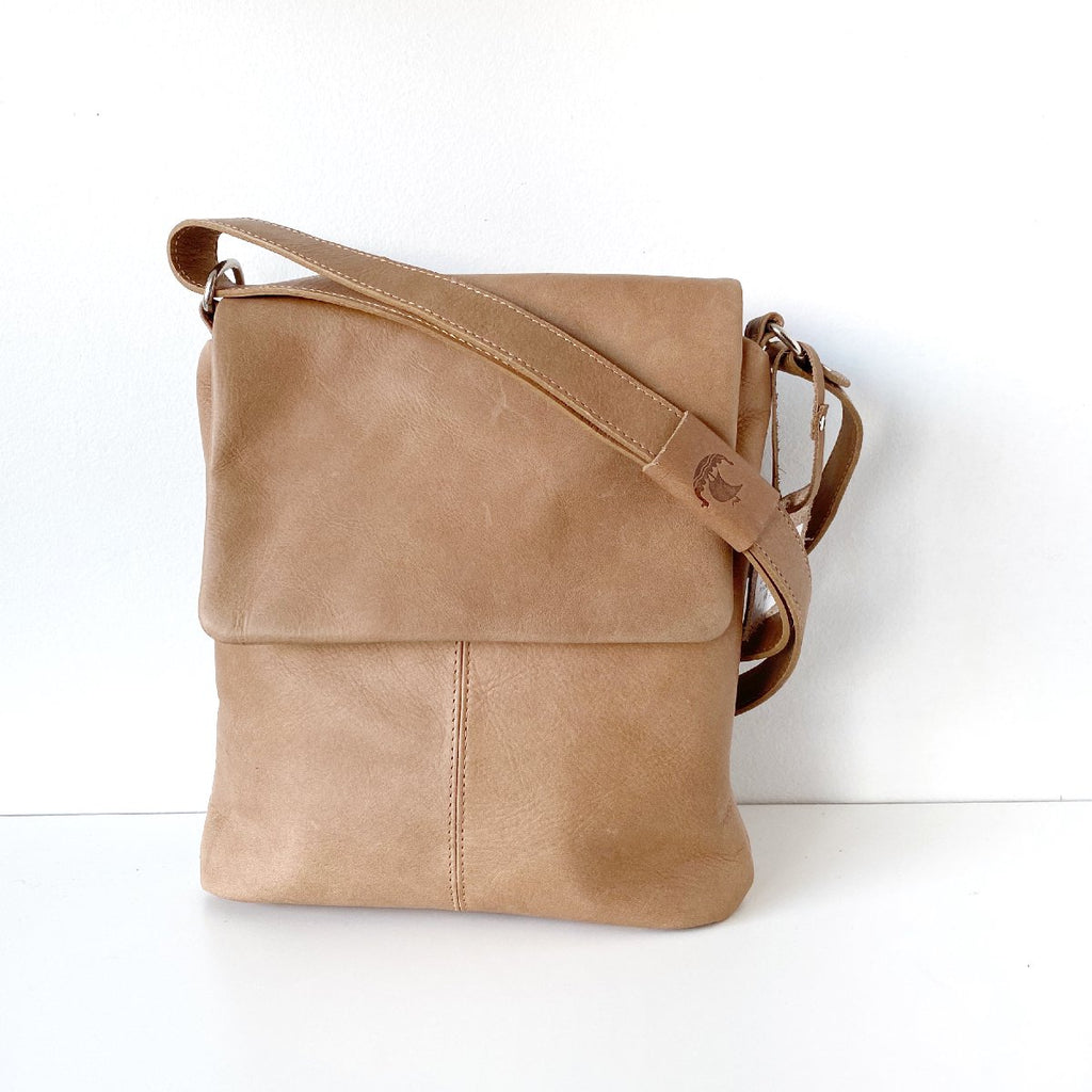 Henk Berg | kit leather bag | natural