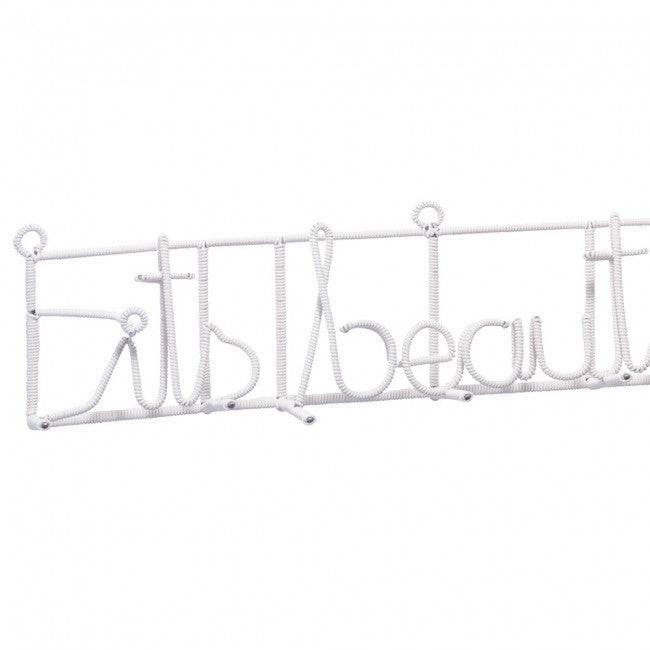 wall hanging - Its beautiful here coat rack (white) - mondocherry