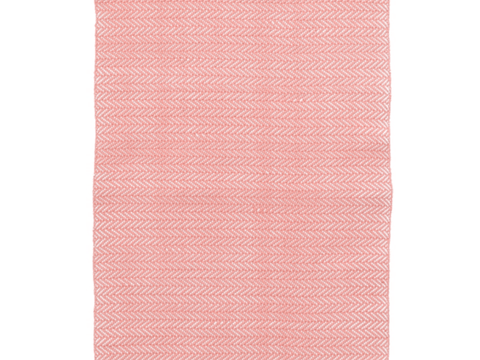 Dash and Albert indoor/outdoor rug Herringbone Coral 60x91 cm-Rug-Dash & Albert-mondocherry