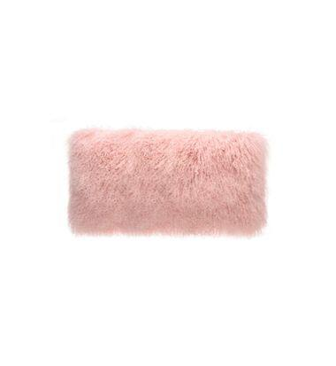 cushion - Darcy and Duke | tibetan fur cushion | pink - mondocherry