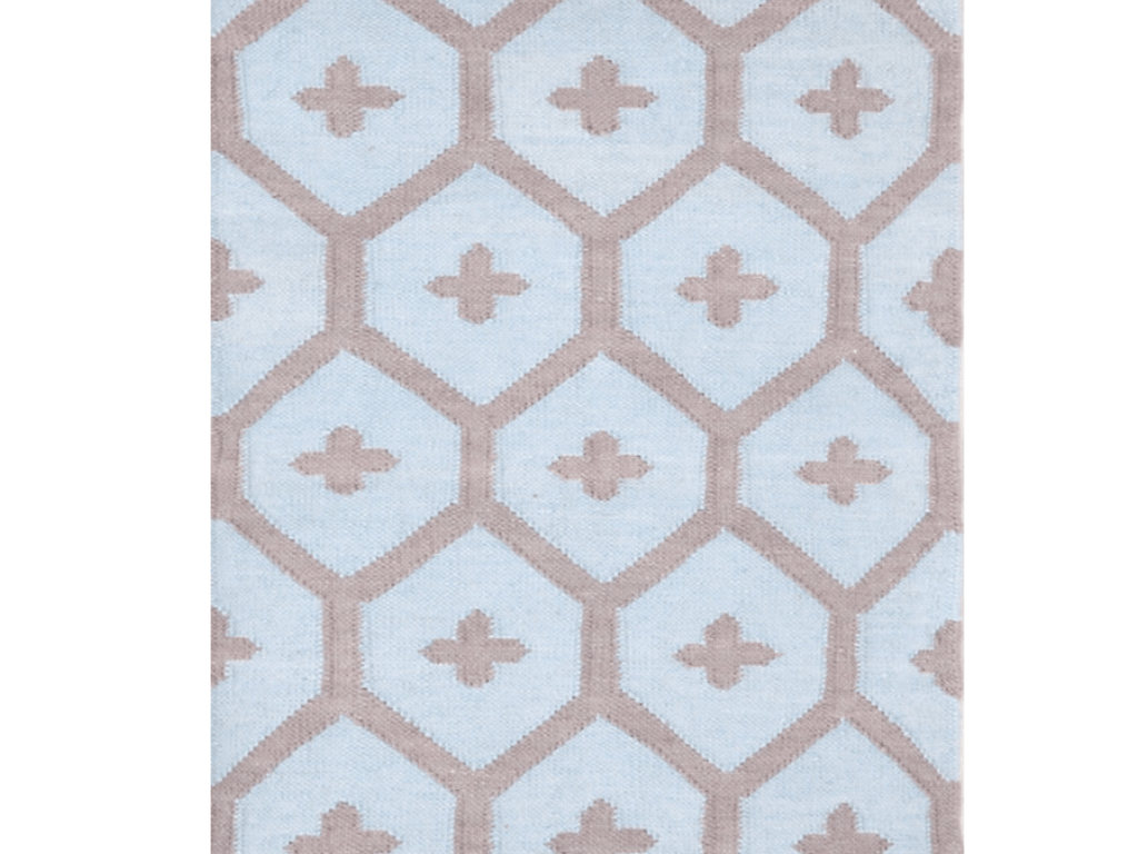 Dash and Albert indoor/outdoor rug Elizabeth Blue 60x91cm-Rug-Dash & Albert-mondocherry