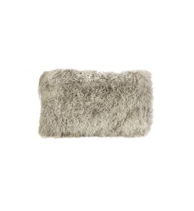 cushion - Darcy and Duke | tibetan fur cushion | grey snowflake - mondocherry