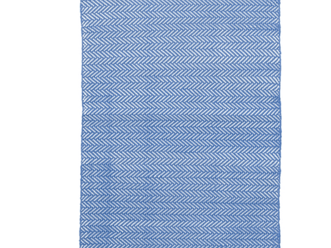 Dash and Albert indoor/outdoor rug Herringbone French Blue 60x91 cm-Rug-Dash & Albert-mondocherry