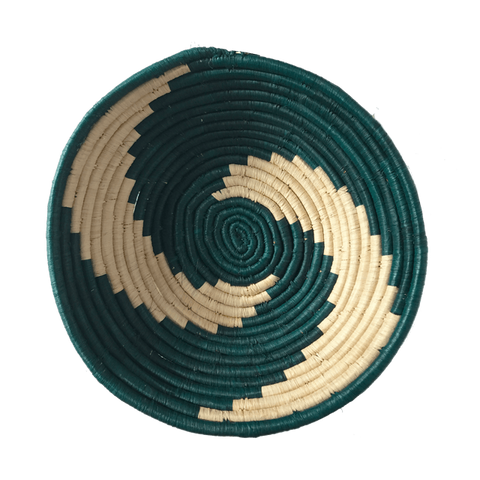 Ugandan swirl bowl medium teal