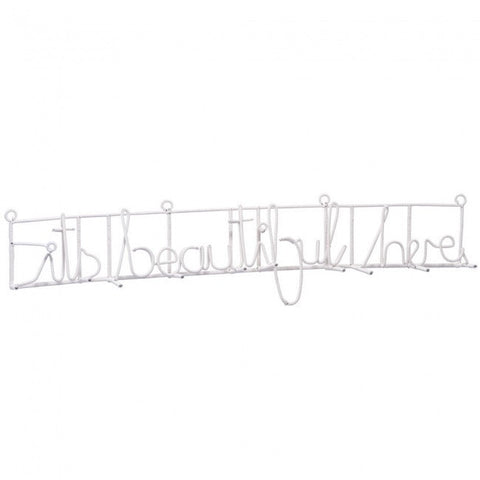 Its beautiful here coat rack (white)-wall hanging-mondocherry-mondocherry