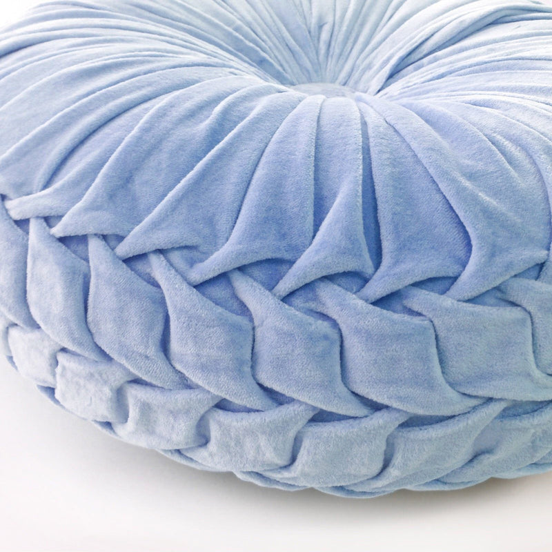 mondocherry homewares - FLT round pintuck cushion serenity