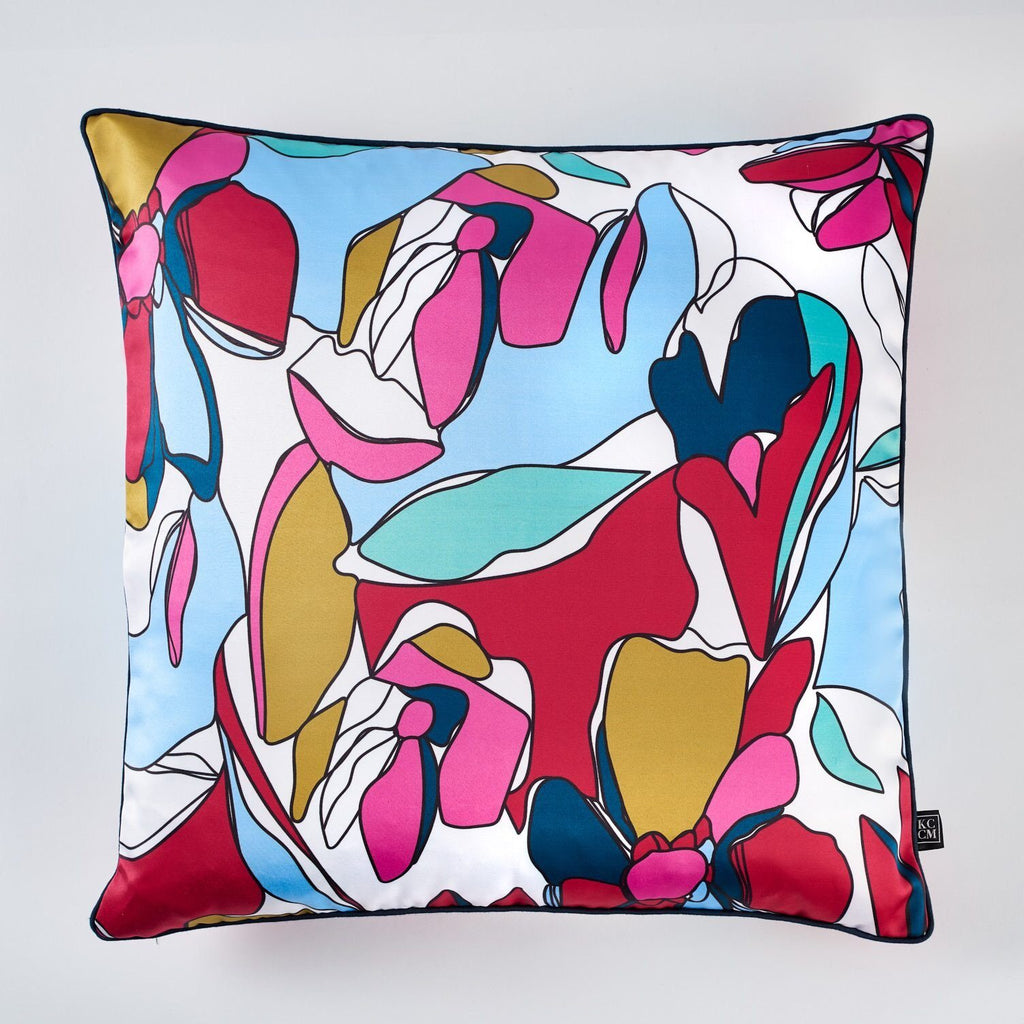 cushion - KCCM | floral monica cushion | pink - mondocherry