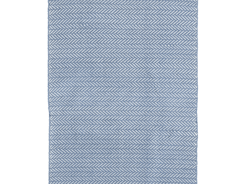 Dash and Albert indoor/outdoor rug Herringbone Denim/Ivory 60x91 cm-Rug-Dash & Albert-mondocherry