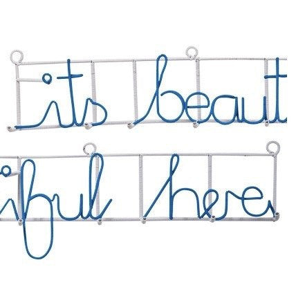 Its beautiful here coat rack (blue)-wall hanging-mondocherry-mondocherry