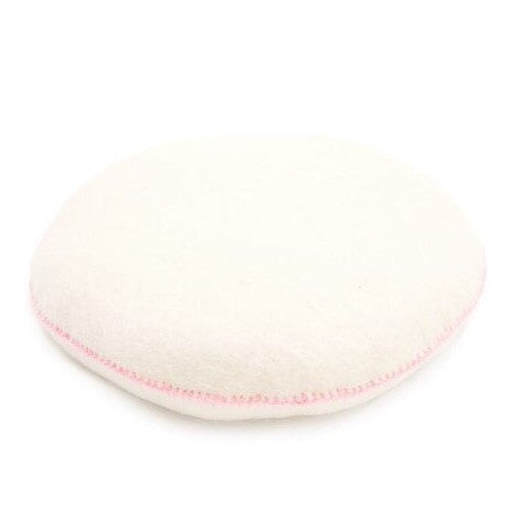 Camomile London | petite house cushion | blush and peach blossom