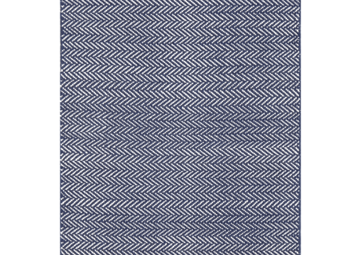 Dash and Albert indoor/outdoor rug Herringbone Indigo 60x91 cm-Rug-Dash & Albert-mondocherry