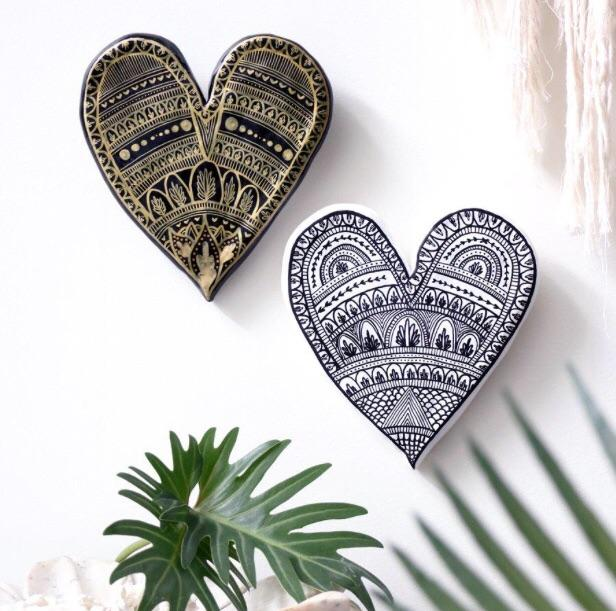 A Boy Named Aaron | Anjali Henna Heart wall decor hanging