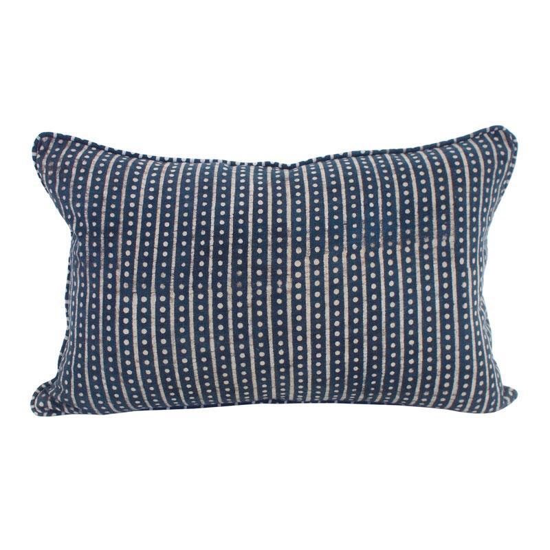 cushion - Walter G Hakuro Indigo Cotton Cushion 35x55cm - mondocherry