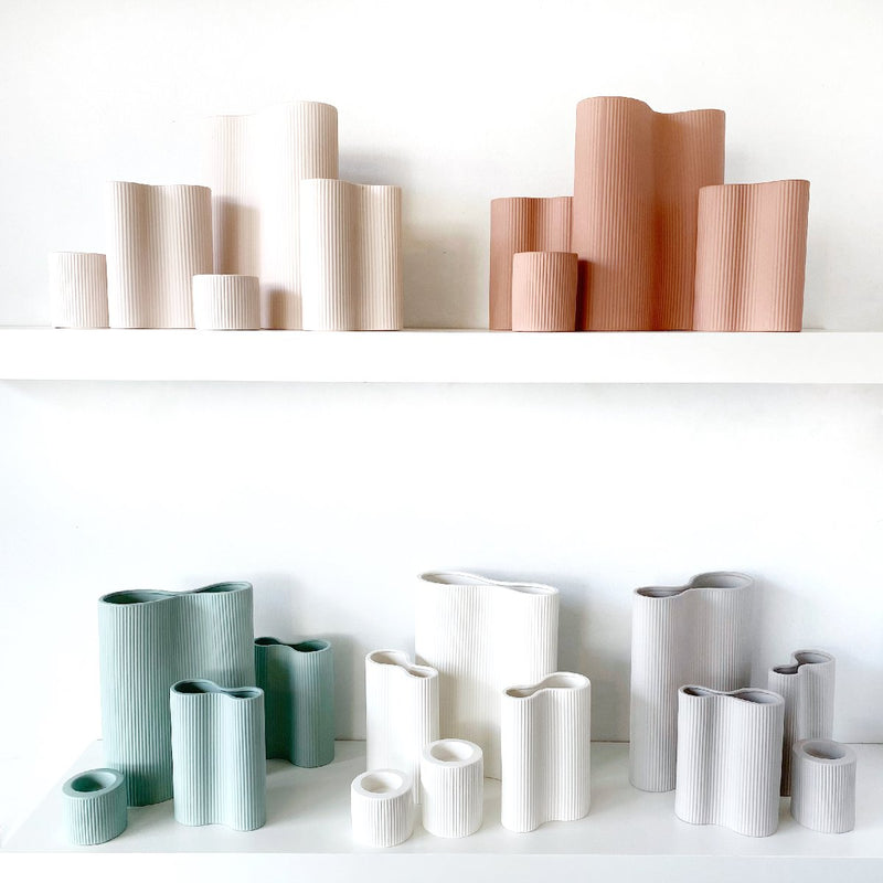 Marmoset Found | ribbed infinity ceramic vase s collection