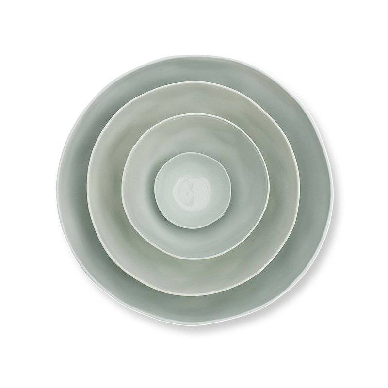 Marmoset Found ceramic cloud bowl - light blue - stacked