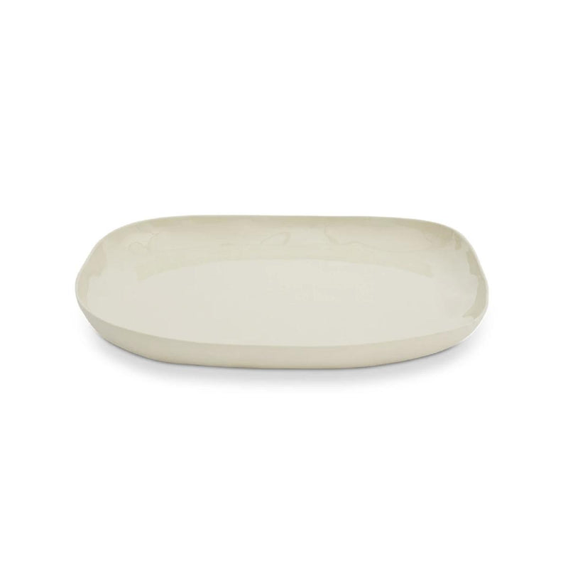 Marmoset Found | ceramic square plate | chalk white | large
