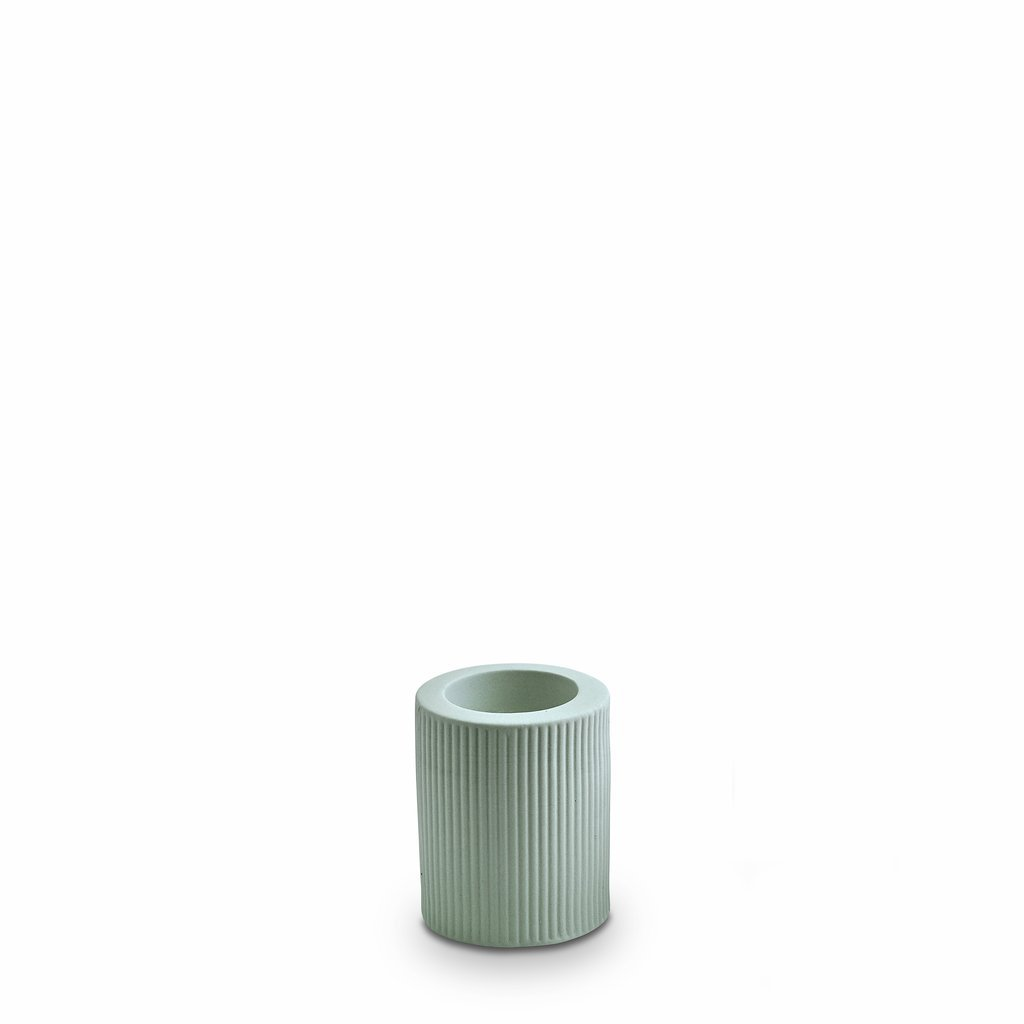 Marmoset Found | infinity ceramic candle holder | blue | medium