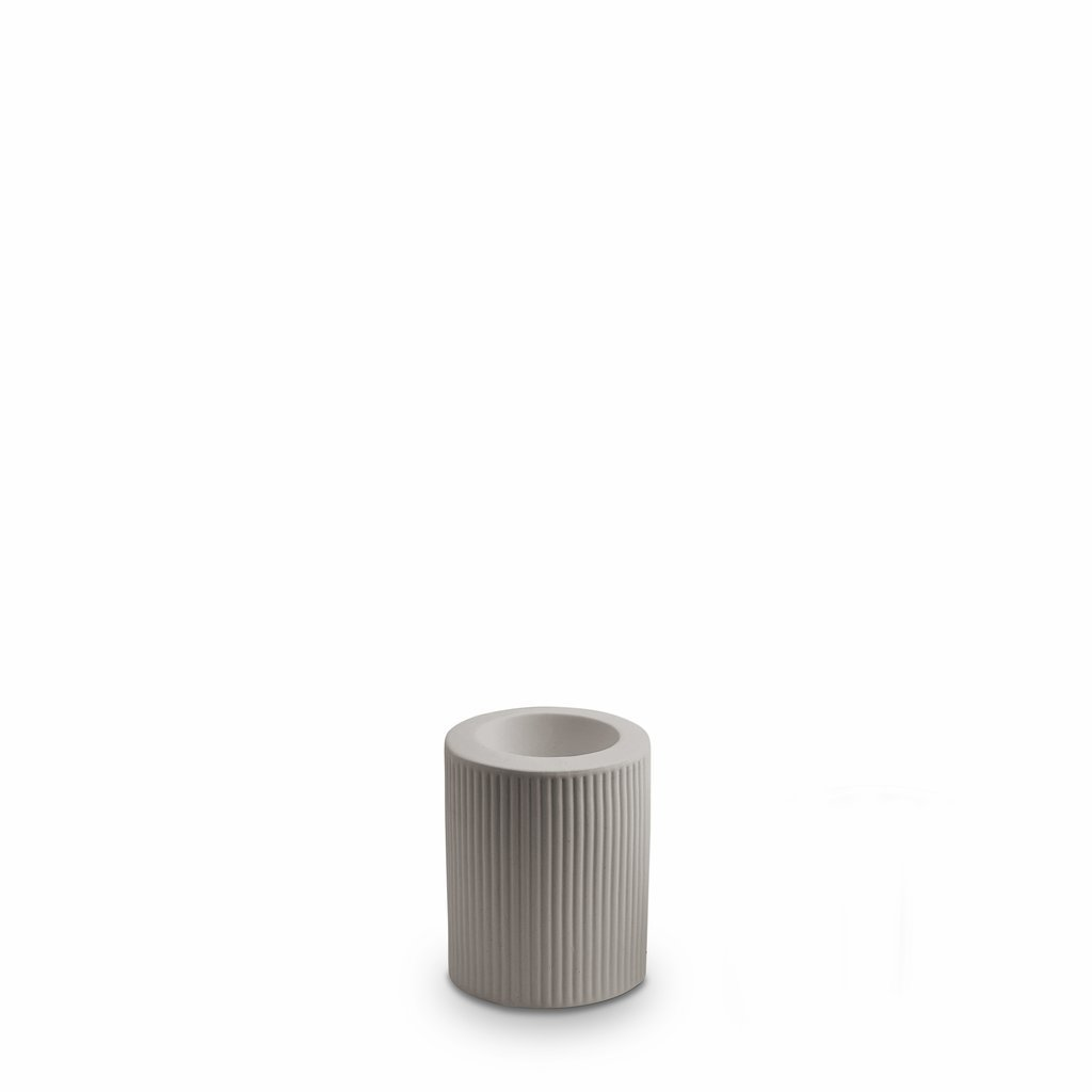 Marmoset Found | ribbed infinity candle holder | light grey | medium