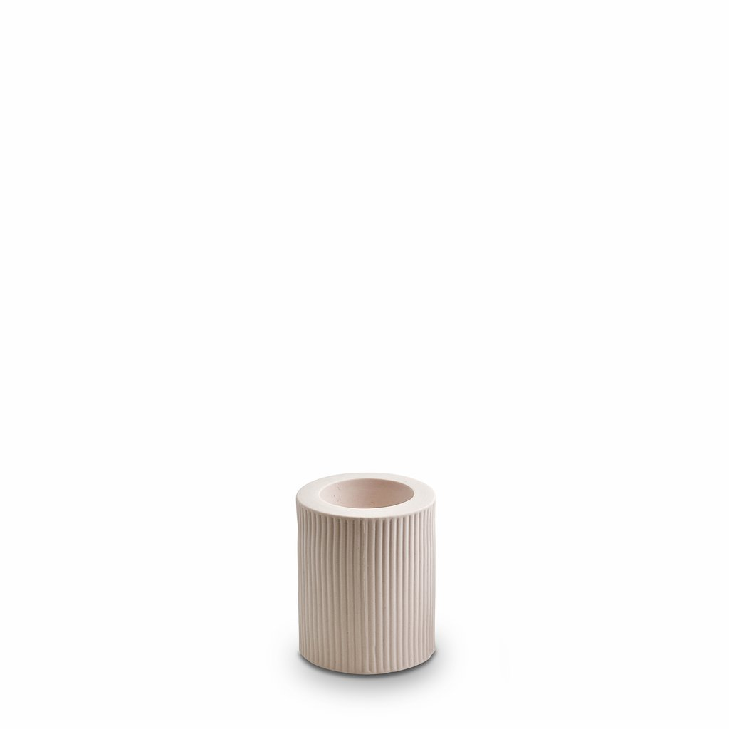 Marmoset Found | infinity ceramic candle holder | nude | medium