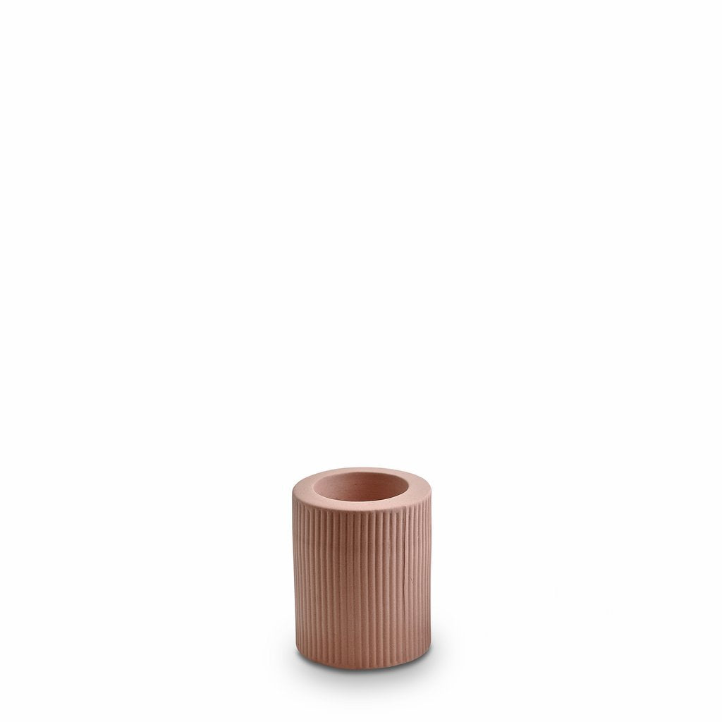 Marmoset Found | infinity ceramic candle holder | ochre | medium