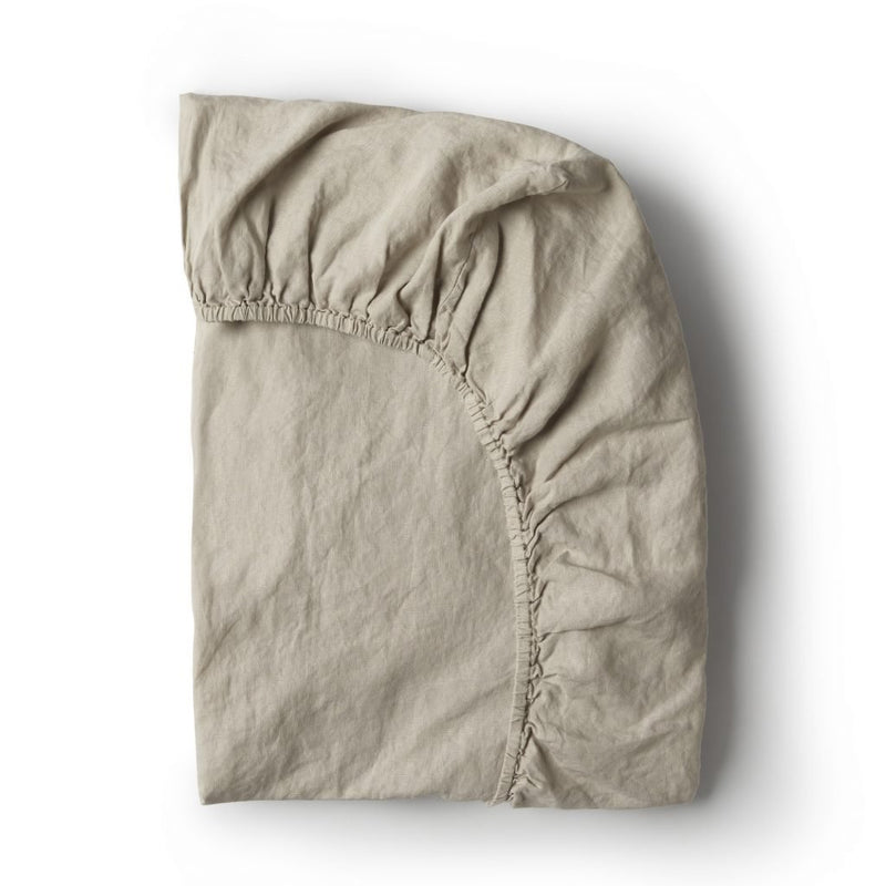 Minimrkt | fitted cot sheet | smoke