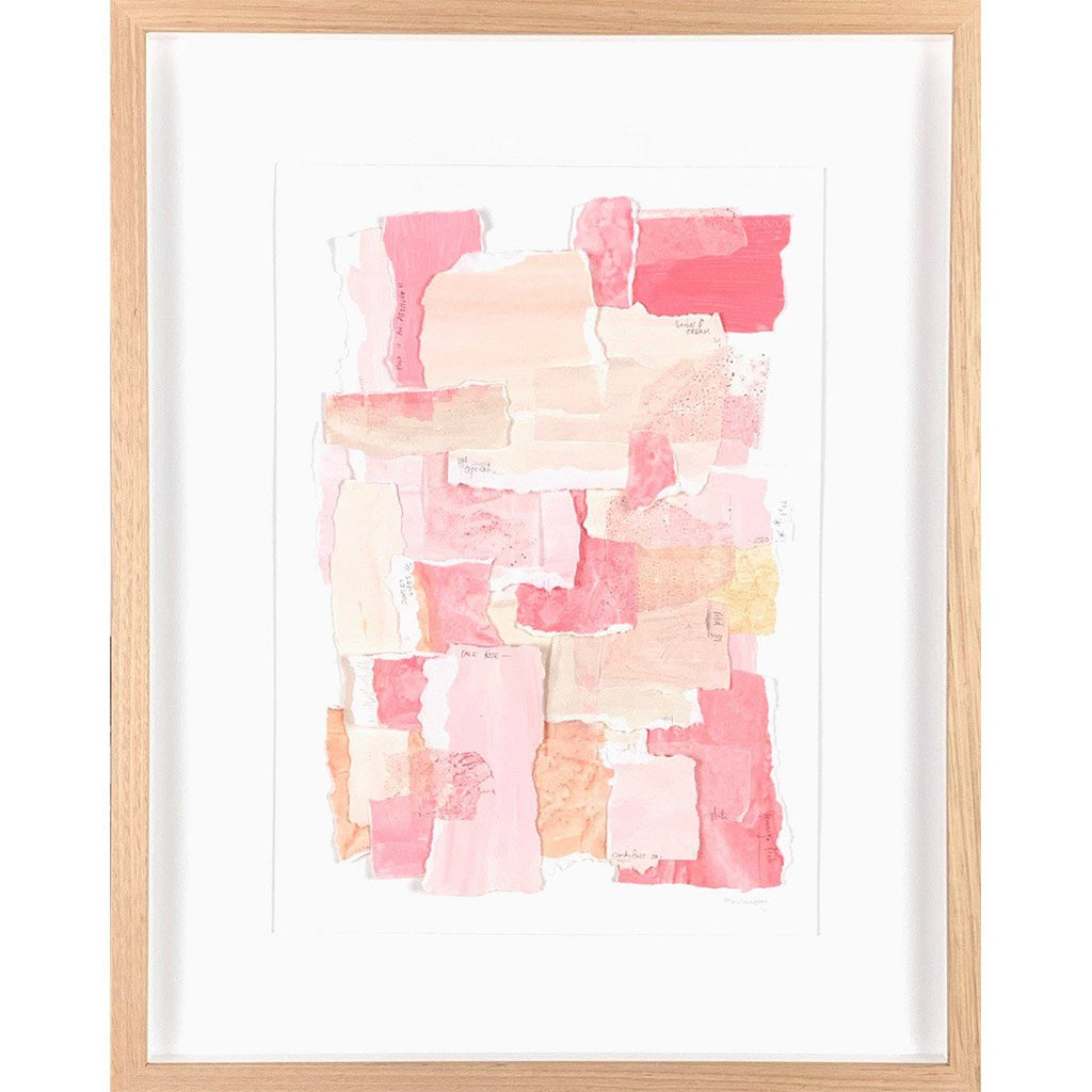 mondocherry colour sampler rose framed artwork